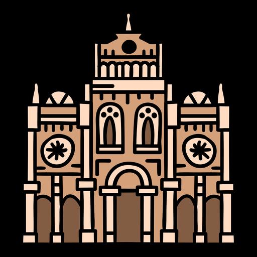 Costa rica cartago cathedral color stroke