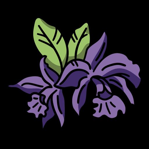 Purple orchid color stroke