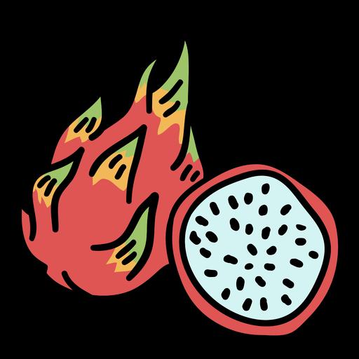 Color stroke dragon fruit pithaya