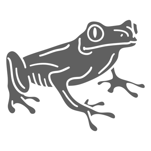Simple cut out tropical frog