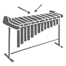Cut out simple xylophone vibraphone
