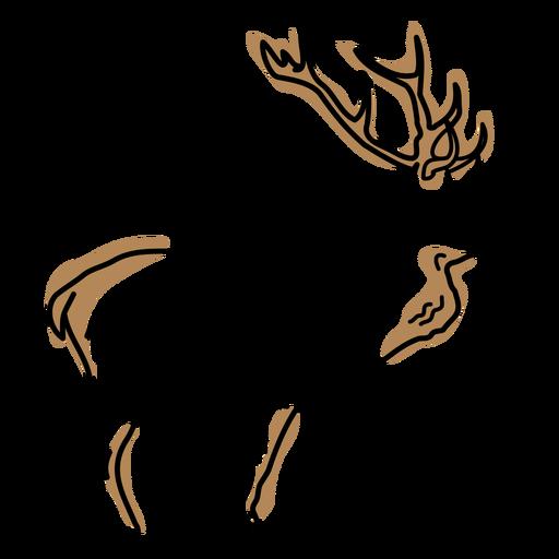 Moose animal duotone