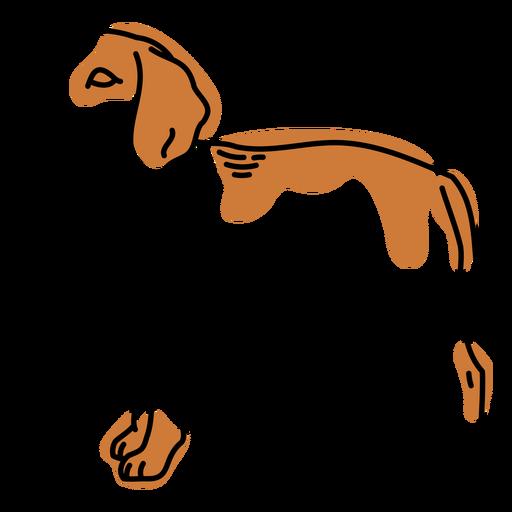 Color stroke semi colored dog