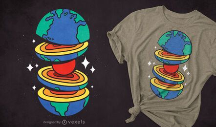 Cut earth t-shirt design