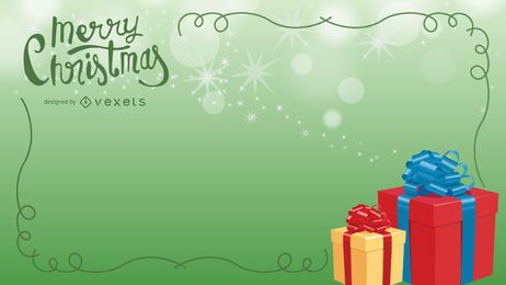 VECTOR CHRISTMAS GIFTS BACKGROUND