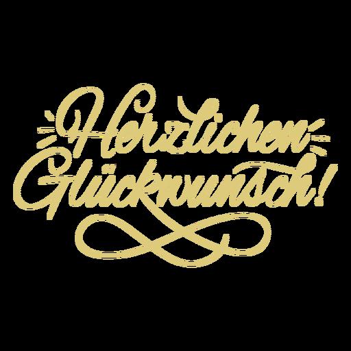 Herzlichen glückwunsch script badge