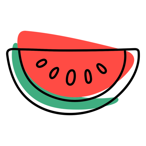 Color stroke abstract watermelon