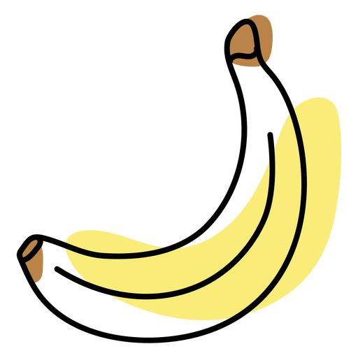 Color stroke abstract banana
