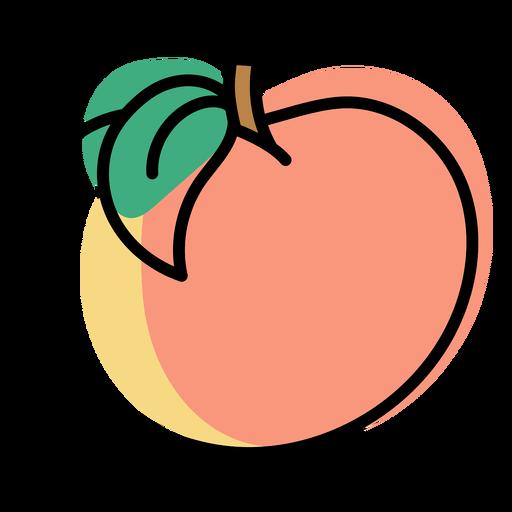 Color stroke abstract peach