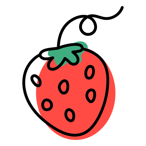 Color stroke abstract strawberry