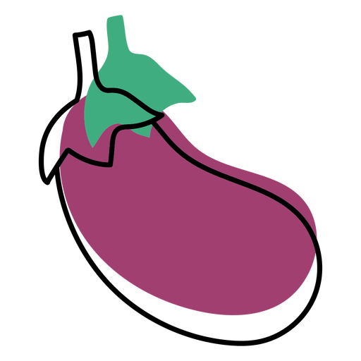 Color stroke abstract eggplant