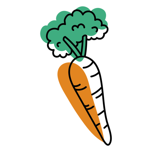 Color stroke abstract carrot
