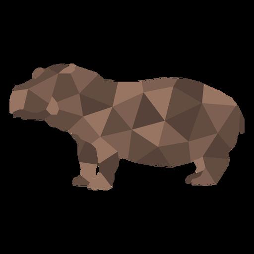 Hippopotamus animal polygonal