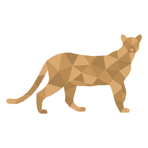 Cheetah wild animal polygonal
