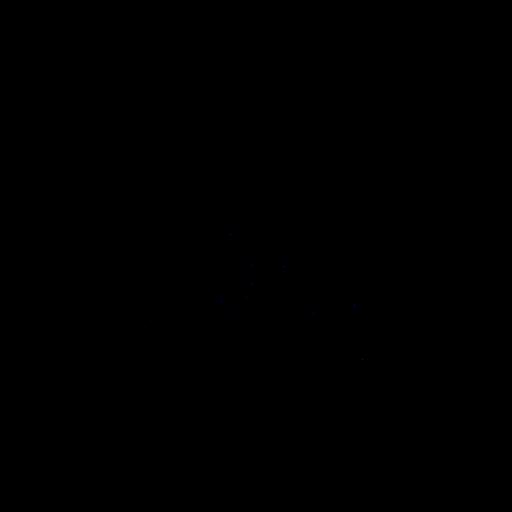 Frontal polygonal lobster silhouette