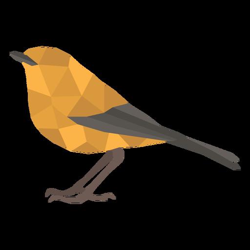 Simple polygonal standing bird