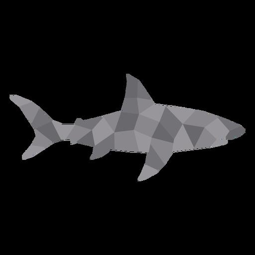 Simple polygonal shark profile