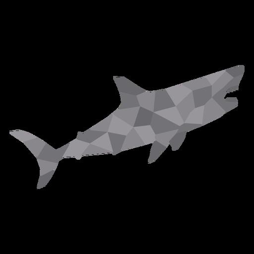Simple polygonal swimming shark profile