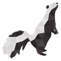 Standing simple polygonal skunk