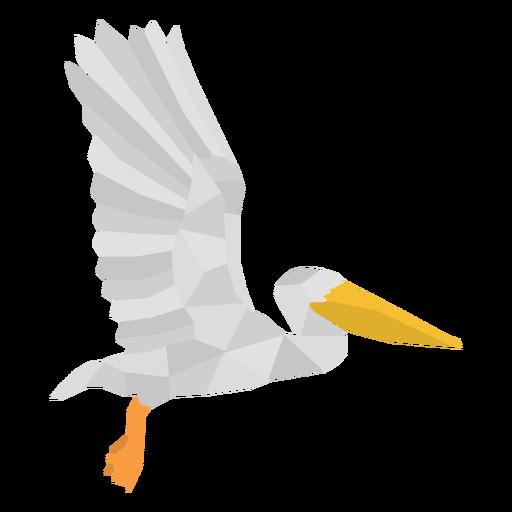 Flying profile polygonal pelican