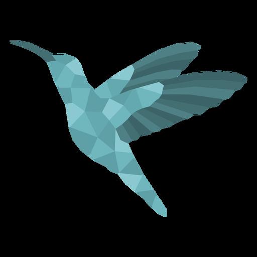 Hummingbird animal polygonal