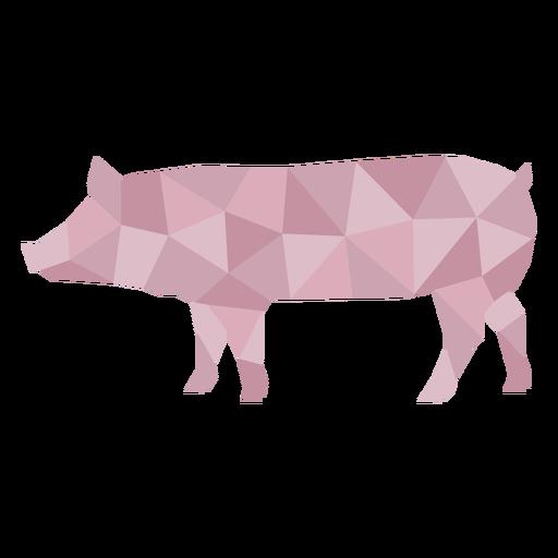 Color polygonal simple pig