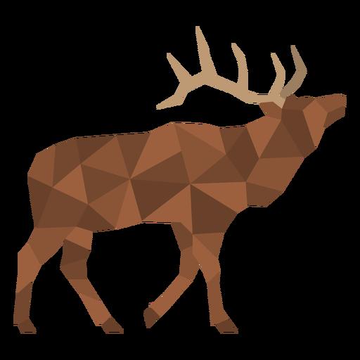 Polygonal color deer