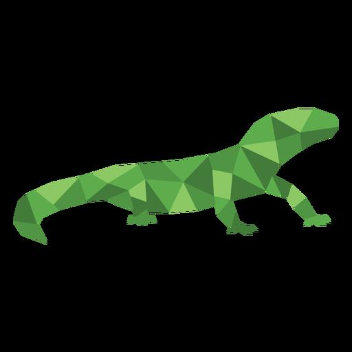 Simple color polygonal lizard