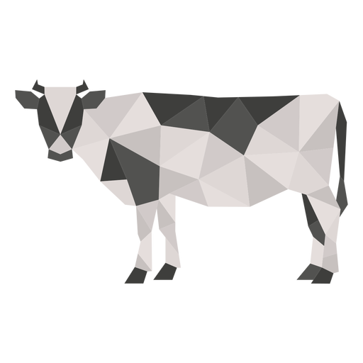 Simple polygonal color cow