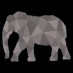 Walking simple polygonal color elephant
