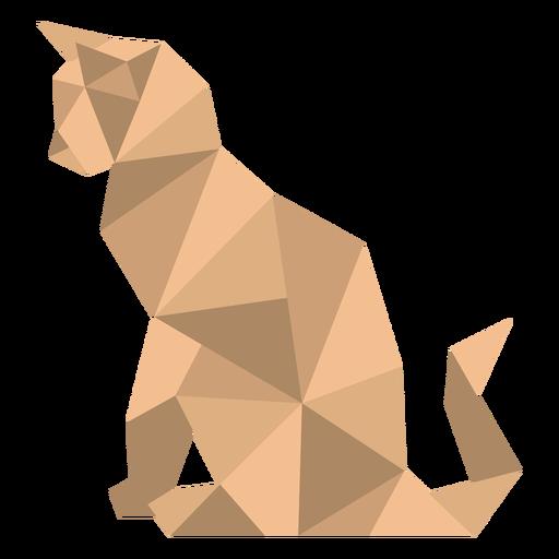 Sitting polygonal color cat