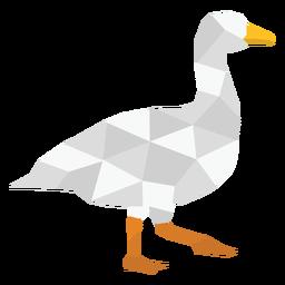 Duck animal walking polygonal