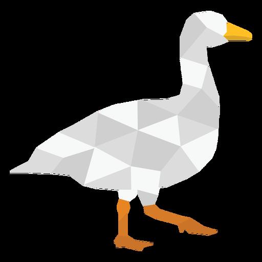 Animal pato caminhando poligonal