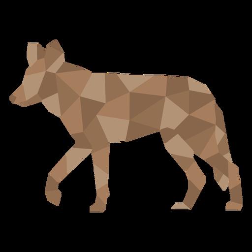 Color polygonal hyena