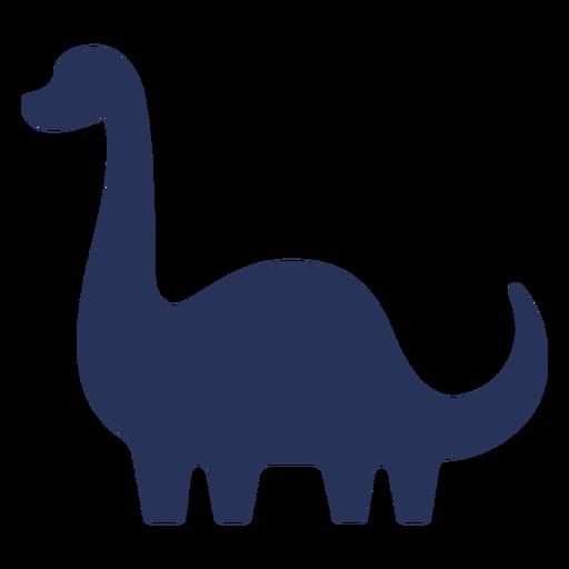 Simple long neck dinosaur silhouette