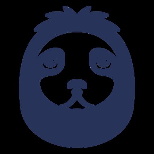 Filled stroke sloth head