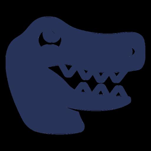 Filled stroke cute crocodile head