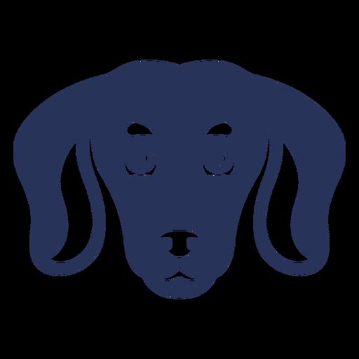 Simple filled stroke dog head