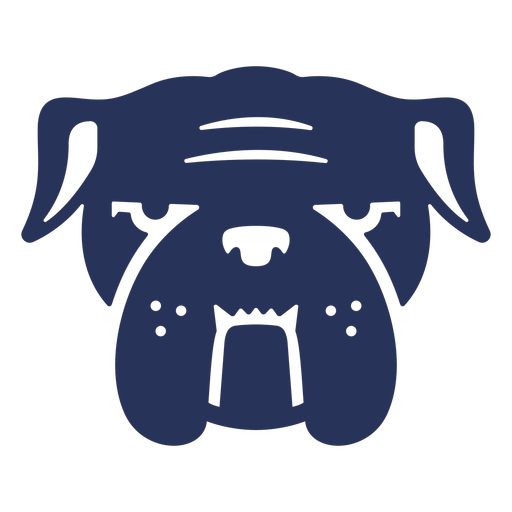 Cut out frontal bulldog face