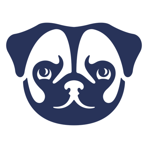 Cut out frontal pug face