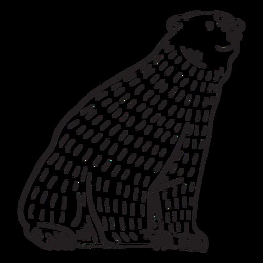 animales en linograbado - 13