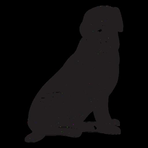 Sitting hand drawn retriever dog