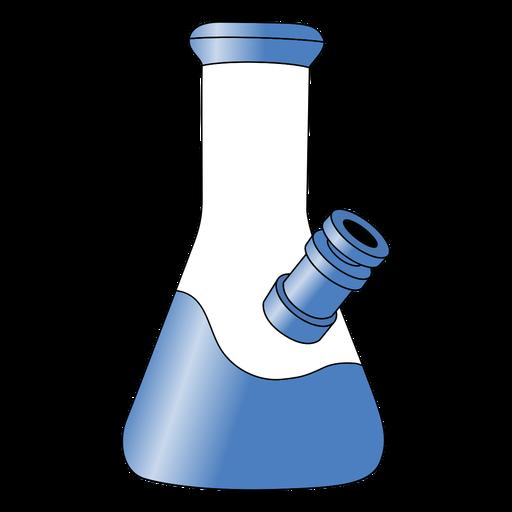 Blue smoking bong gradient