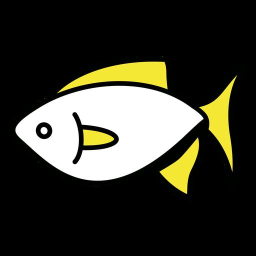 Simple yellow fins fish color stroke profile