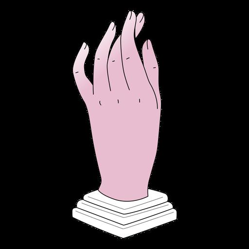 Gradient hand sculpture