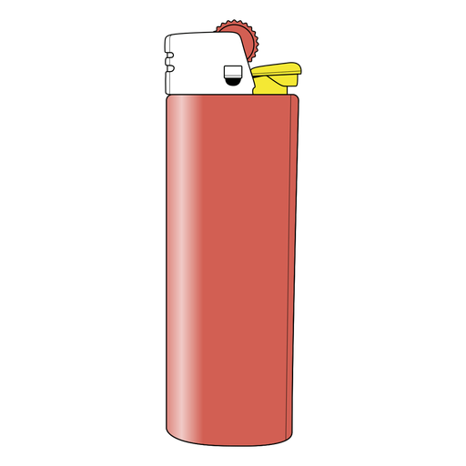Simple semi flat lighter