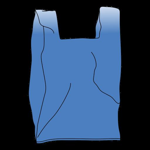 Simple flat garbage bag