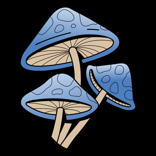 Blue mushroom nature