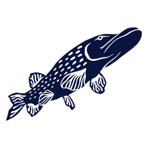 Simple cut out fish from below
