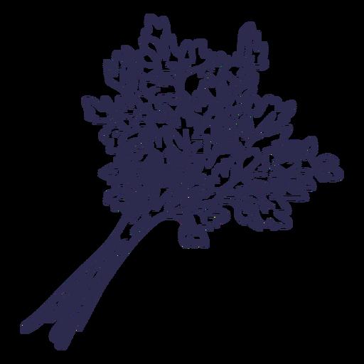 Simple stroke bundle of parsley